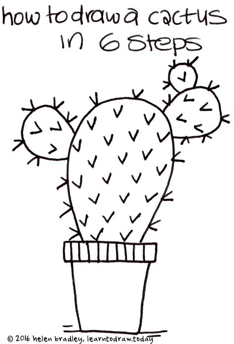 how to draw a doodle step by step how to draw a cactus step by step pencil drawing