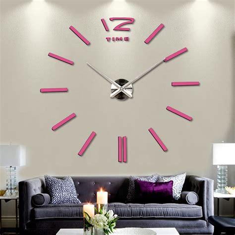 Jam Dinding Acrylic Mirror 3d wall clock jam dinding silver jakartanotebook