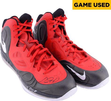 chris bosh basketball shoes chris bosh miami heat autographed worn 2013
