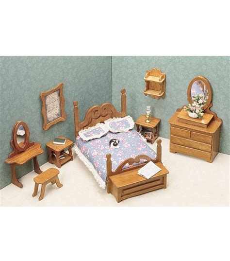 dolls house furniture set greenleaf dollhouse furniture bedroom set jo ann