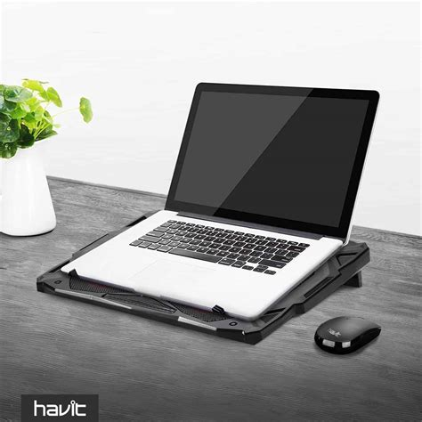 Fan Laptop Cooler havit hv f2068 5 fan laptop cooler for 14 17 inch laptops havit