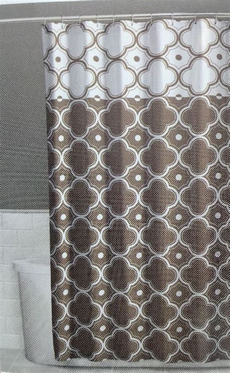 brown and beige shower curtain details about fabric shower curtain 70 x 72 inch vera tan