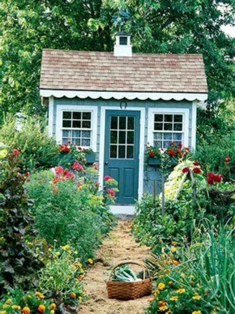 cottage backyard garden cottage shed yard ideas pinterest