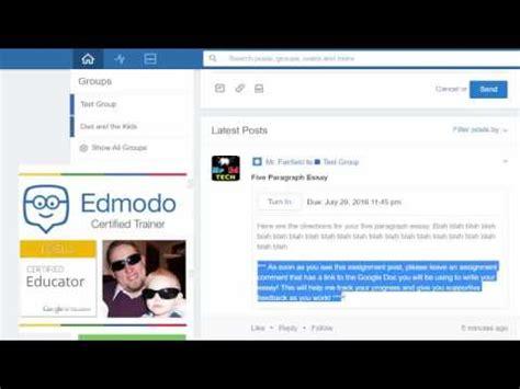 edmodo google sign in how to use edmodo and google docs to enhance teacher