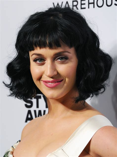 StyleNoted   Katy Perry Comes Out In A Raven Bob