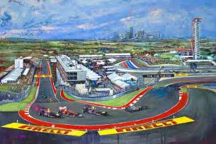 Circuit Of The Americas F1 Track Circuit Of The Americas Print By