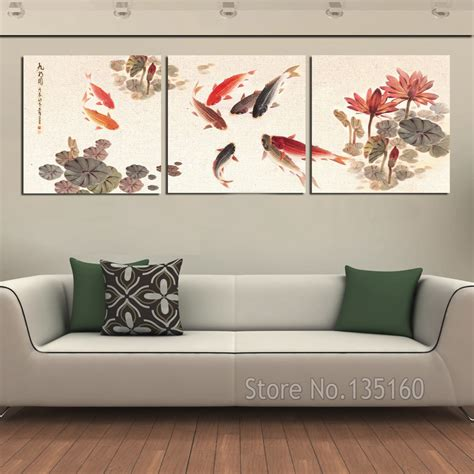 painting decor 3 piece wall art picture traditional chinese calligraphy