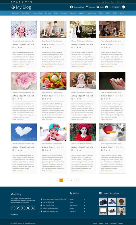 layout blogger free codes power bootstrap blog layout design by designcollection