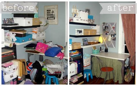 before and after organizing office organization ideas space for living organizing