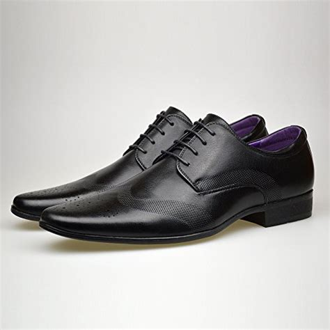 mens fashion new brown leather shoes formal smart dress