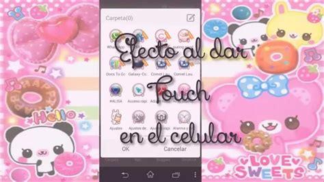 imagenes kawaii para celular efecto para el touch de tu celular launcher tema kawaii