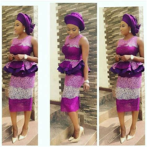styles of purple cordlace 588 best images about african aso ebi lace styles on