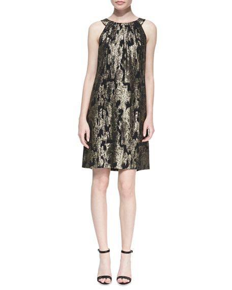 Ikat Pinggang Michael Kors Ori michael kors ikat gathered shift dress