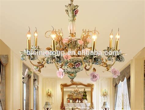Brass Dining Room Chandelier Beautiful Italian Style Classic Painted Floral Chandelier Luxury Italian Brass Pendant L