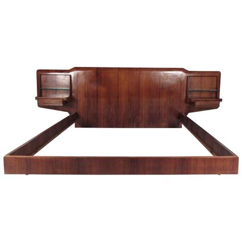 Italian Bed Frame Mid Century Italian Bed Frame With End Tables For Sale At 1stdibs