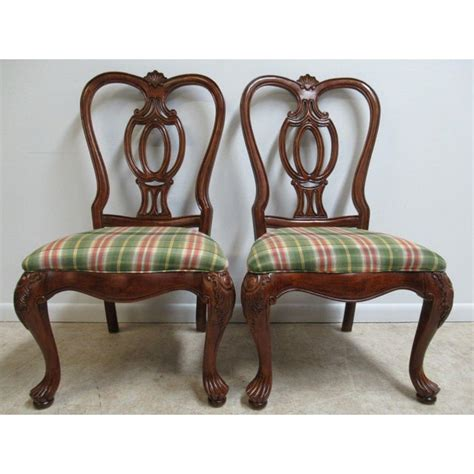 thomasville mahogany oversized carved dining room side