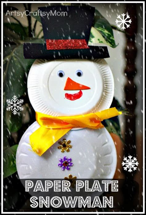 Paper Plates Craft - paper plate snowman cup reindeer craft class artsy