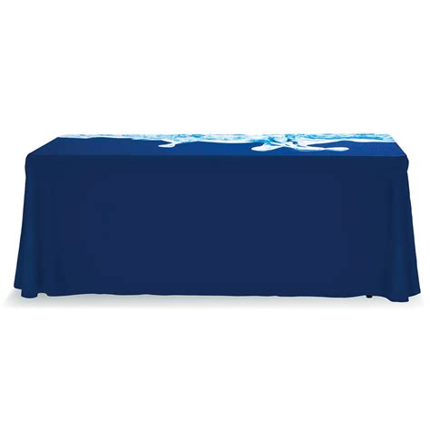 printed fitted table covers 6ft color custom printed table cover