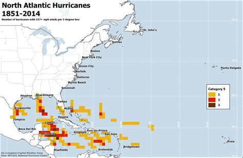 us hurricane history map the regions most at risk for atlantic hurricanes in 3 maps