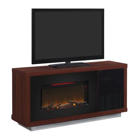 media mantel with electric 36 quot fireplace cherry wood rona