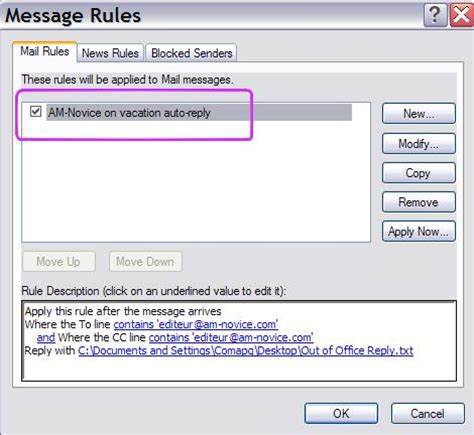 How To Turn Out Of Office In Outlook by How To Set Up An Out Of Office Reply With Windows Live Mail