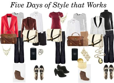 Five Wardrobe by Five Days Of Office Style On A Budget Career