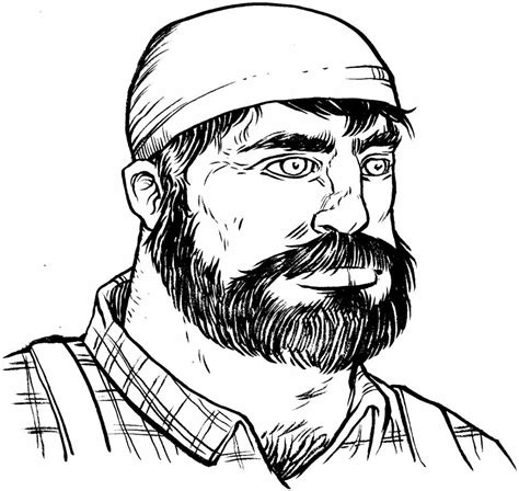 Free Coloring Pages Of Lumberjack Paul Bunyan Coloring Page