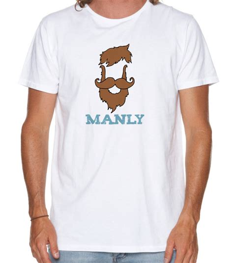 cool t shirts for men beardy man funny men s tshirt manly