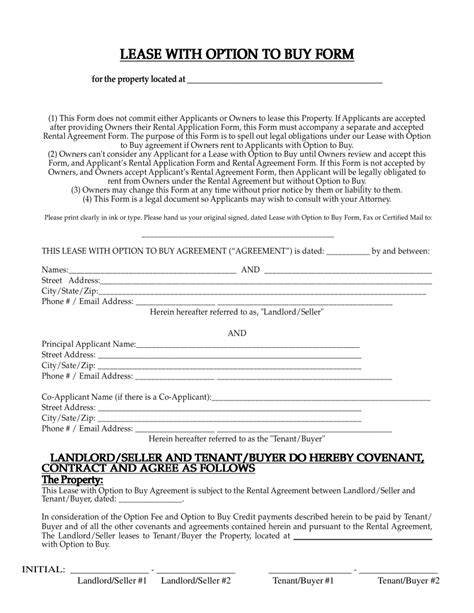 Free New Mexico Lease With Option To Buy Agreement Pdf Eforms Free Fillable Forms Lease Option Template