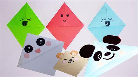 Paper Kawaii Origami Book - diy simple kawaii bokmarks how to make easy kawaii