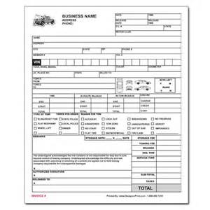 Towing Company Receipt Template Towing Invoice Roadside Service Forms Designsnprint