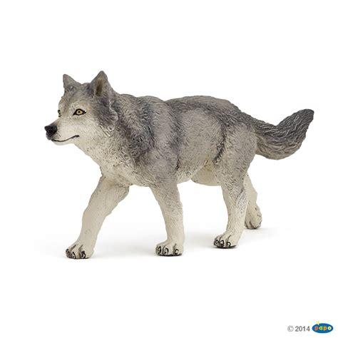 papo grey wolf animal kingdom figure papo 53012