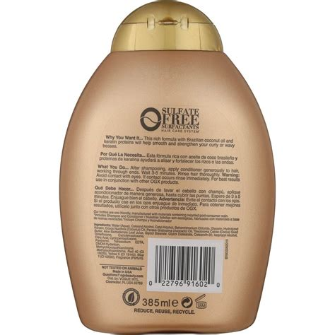 Shoo Ogx organix keratin shoo and conditioner keratin