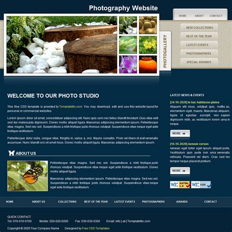 html layout on line template 052 gallery