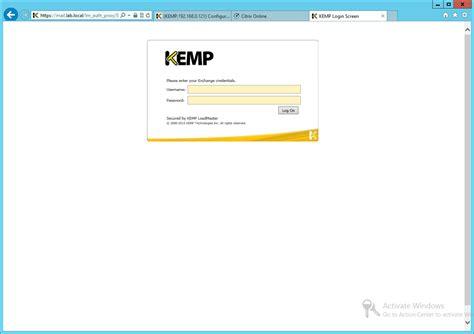 Hints And Tips For Configuring Kemp Esp On Ms Exchange 2010 Ryan Mangan S It Blog Kemp Load Balancer Templates