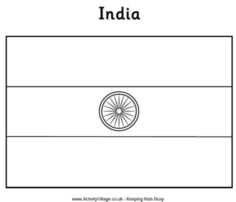 Flag Of India Coloring Page indian flag coloring page gallery
