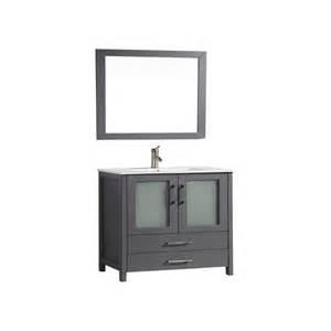 shop mtd vanities grey integrated single sink bathroom