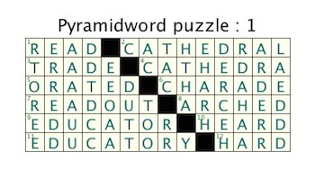 scow feature crossword clue pyramidword puzzles