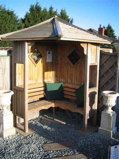 corner garden arbour seat  delivery  assembly