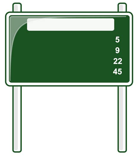 signboard template blank sign template clipart best