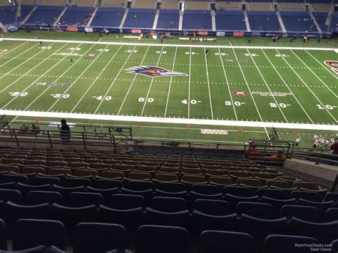 seat section alamodome section 312 utsa football rateyourseats com
