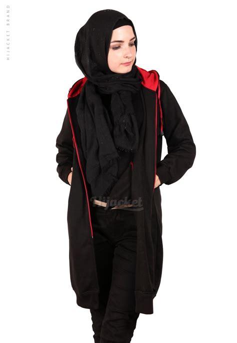 Original Hijacket Urbanashion Black Jaket jaket hijaber basic black hijacket hj21 distro beda