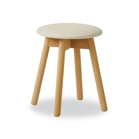 round stool for piano in beechwood idfdesign