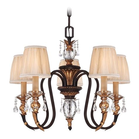 Bronze Chandelier With Shades Bronze Chandelier With Pleated Shades N6645 258b Destination Lighting