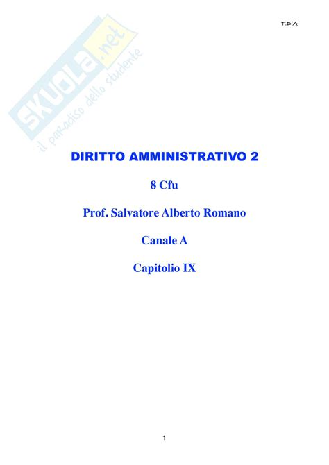 dispensa di diritto amministrativo riassunto esame diritto amministrativo 2 prof romano