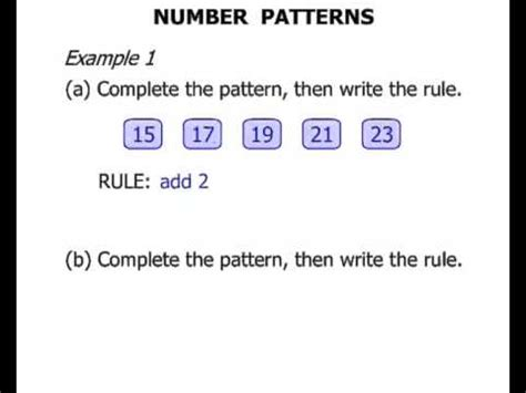 write a pattern rule using a variable 2nd grade number patterns youtube