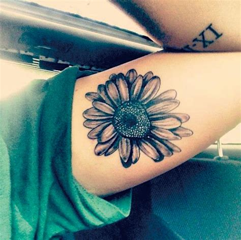 temporary nipple tattoos sunflower floral shoulder flowers