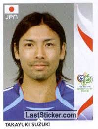 Suzuki Takayuki Sticker 450 Takayuki Suzuki Panini Fifa World Cup