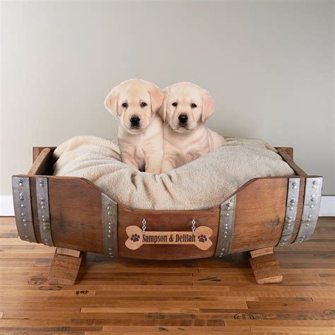 personalized dog bed personalized wine barrel pet bed large pet beds barrels