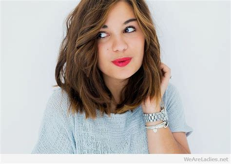 lob haircut meaning long bob messy curly and a perfect make up